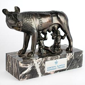 Italy IOC Romulus and Remus Sculpture