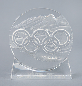 Albertville 1992 Winter Olympics Lalique Paperweight