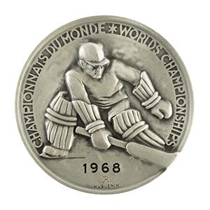 Grenoble 1968 Hockey World Championships Silver Winner's Medal