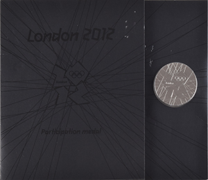 London 2012 Summer Olympics Cupronickel Participation Medal