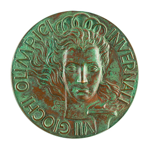 Cortina 1956 Winter Olympics Bronze Winner's Medal