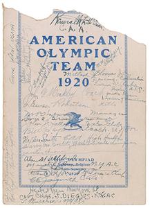 Tug Wilson's Antwerp 1920 Olympics American Team 'Farewell Gathering' Multi-signed Program