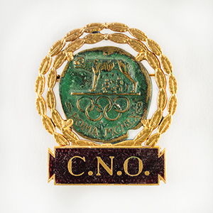 Tug Wilson's Rome 1960 Summer Olympics National Olympic Committee Badge