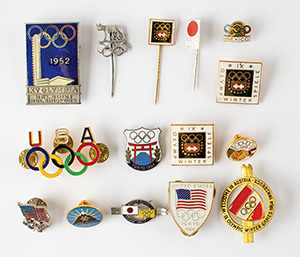 Tug Wilson's Olympic Pin Collection