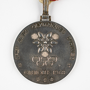 Grenoble 1968 Winter Olympics Silver Winner's Medal