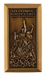Salt Lake City 2002 Winter Olympics Participation Medal and Diploma