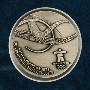 Vancouver 2010 Winter Olympics Participation Medal and Diploma