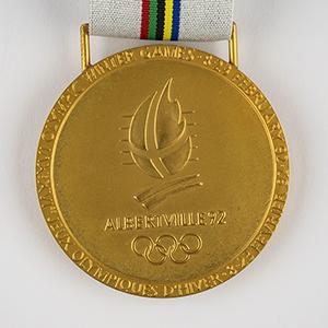 Albertville 1992 Winter Olympics Sample Gold Winner's Medal for Demonstration Sports