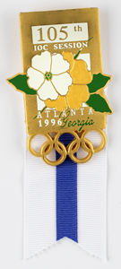 Atlanta 1996 IOC Session Badge