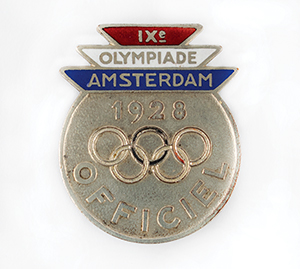 Amsterdam 1928 Summer Olympics Official Badge