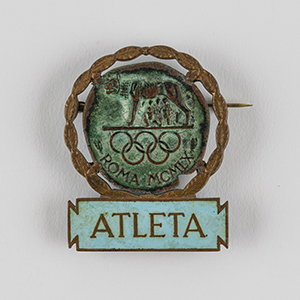 Rome 1960 Summer Olympics Athlete Badge