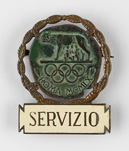 Rome 1960 Summer Olympics Service Badge