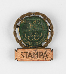Rome 1960 Summer Olympics Press Badge