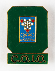 Grenoble 1968 Winter Olympics Organizing Committee Badge