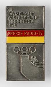 Innsbruck 1976 Winter Olympics Media Badge