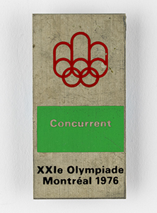 Montreal 1976 Summer Olympics Athlete Badge