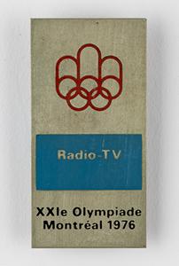 Montreal 1976 Summer Olympics Media Badge