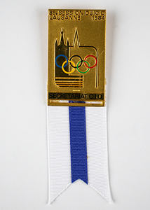 Lausanne 1984 IOC Session Badge