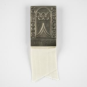Lake Placid 1980 IOC Session Invite Badge