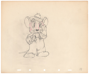 Abner production drawing from The Country Cousin