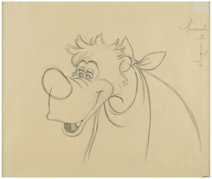 Br'er Bear production drawing from Song of the South