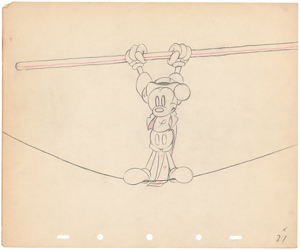 Mickey Mouse production drawing from Mickey's Circus