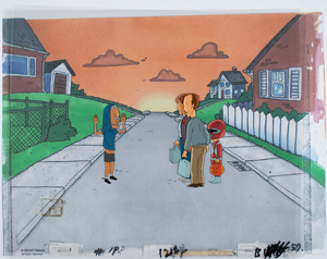 Beavis and neighbors production cel from Beavis and Butt-Head