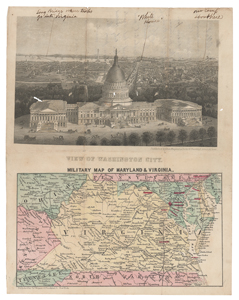 Civil War: Virginia and Washington, D.C. Military Map