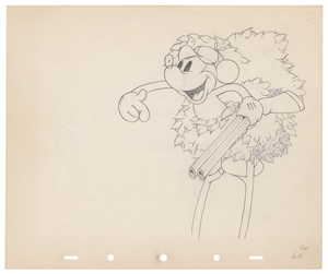 Mickey Mouse production drawing from Moose Hunters