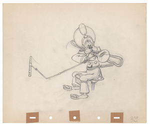 Goofy production drawing from Mickey's Amateurs