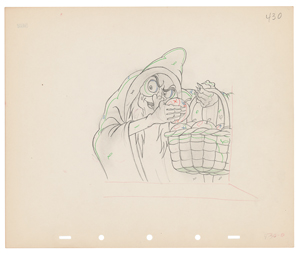 Wicked Witch production drawing from Snow White and the Seven Dwarfs