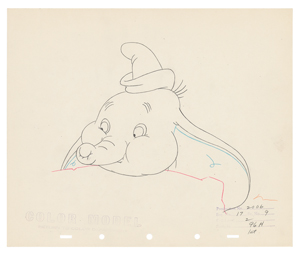 Dumbo and bubbles (4) production drawings from Dumbo