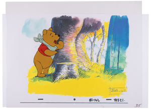 Winnie the Pooh production cel from The Many Adventures of Winnie the Pooh