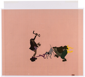 Pongo and Thieves production cel from 101 Dalmatians