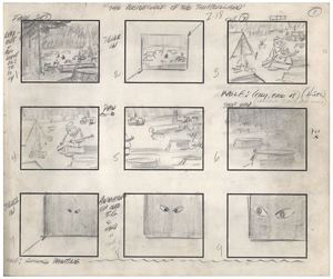 Jonny Quest complete storyboard from the episode The Werewolf of the Timberland