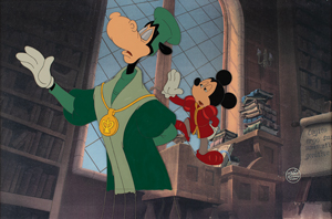 Mickey Mouse and Horace Horsecollar production cels from The Prince and the Pauper