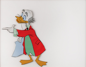 Ludwig Von Drake production cel from a Disney cartoon