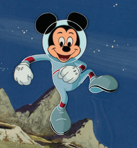 Mickey Mouse production cel from a Disney cartoon