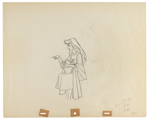 Briar Rose production drawing from Sleeping Beauty