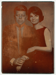 John and Jacqueline Kennedy Photoengraver's Plate