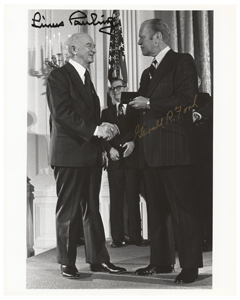 Gerald Ford and Linus Pauling
