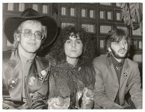 Elton John, Marc Bolan, and Ringo Starr