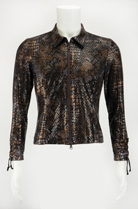 Prince's Personally-Worn Jam of the Year World Tour Snakeskin Shirt