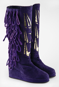 Prince's Custom-Made 'New Power Generation' Boots with Designs and Correspondence