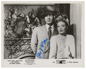 Loretta Young and Joseph Cotten
