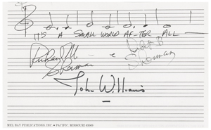 Disney: Richard and Robert Sherman, and John Williams