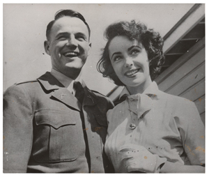 Elizabeth Taylor and Glenn Davis