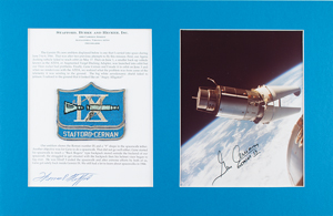 Tom Stafford's Gemini 9 Flown Patch with Signed Photograph