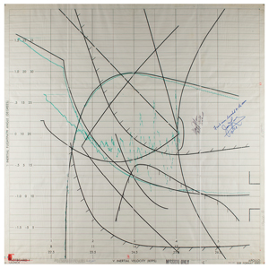 Apollo 8 Launch Plotboard Printout Signed by James Lovell