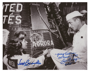 Scott Carpenter and Cece Bibby Signed Photograph